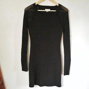 Black Bodycon Long-Sleeve Dress